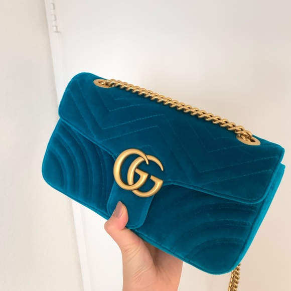 7d0b06ce60a0 Gucci Handbags - Gucci marmont small velvet bag